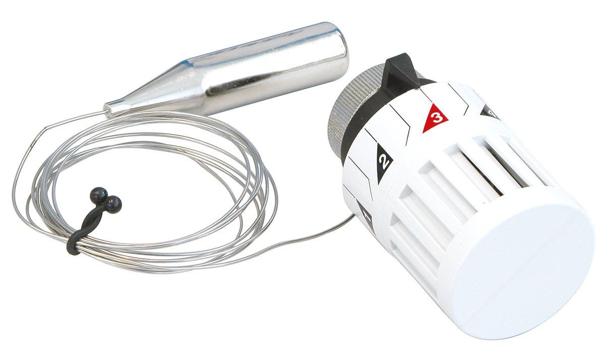 Sanitop-Wingenroth Thermostatic Radiator Valve with Remote Sensor, Set of 1, White, 27288 9 272889 27288 9