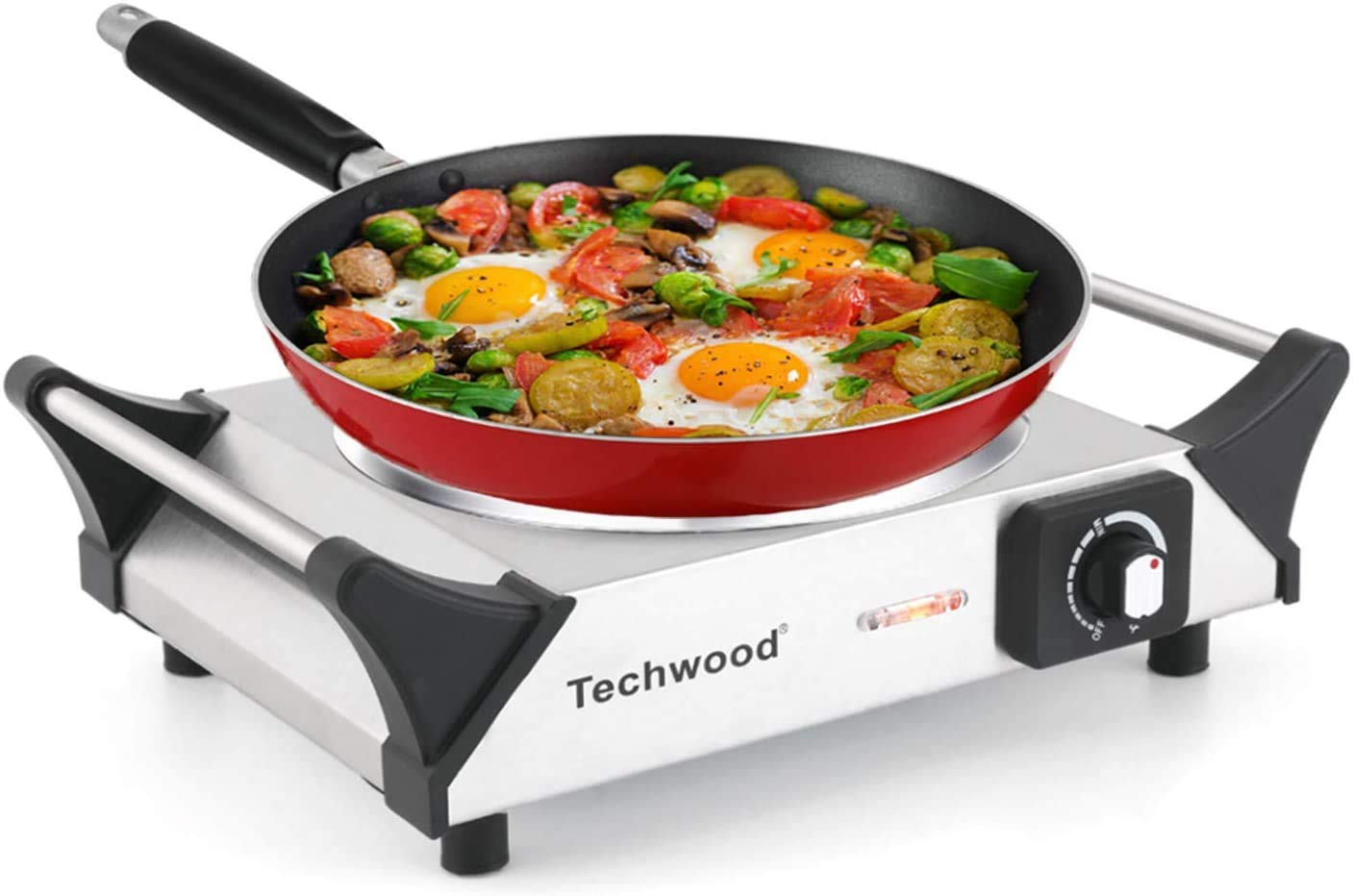 Techwood Hot Plate Electric Stove 1200W Countertop Infrared Ceramic Single Burner with