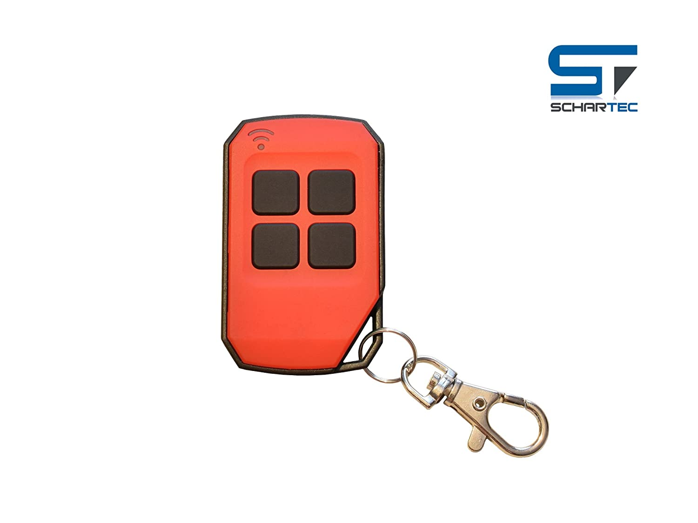 Garagentor/öffner 433.92 MHz f/ür Garagentorantrieb Universal Handsender 433,92 MHz in 4 verschiedenen Farben von Schartec rot Funk Fernbedienung 433 MHz