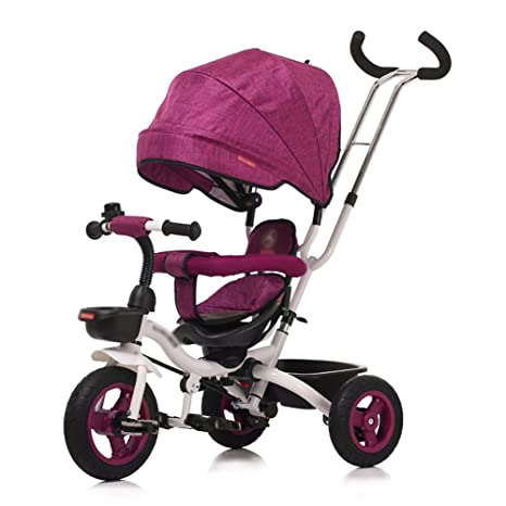 Triciclos- Plegable Niño Bicicleta Carro Infantil 1-5 Años de Edad Bebé Bicicleta Carro de Bebé Niños (Color : Purple): Amazon.es: Hogar