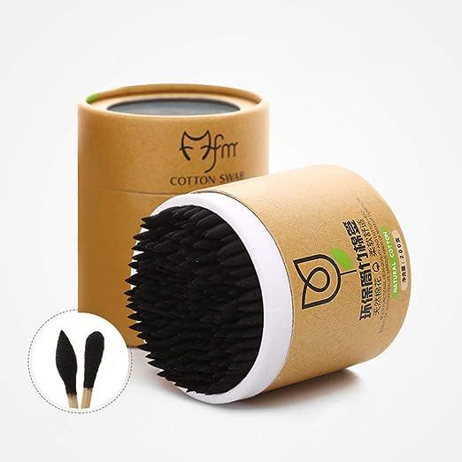 Watchwe 200pcs / Box Bastoncillo de algodón de bambú Bastones de Madera Bastoncillos de algodón Suave Limpieza de Orejas Tampones Microbrush Cotonete pampones Salud Belleza: Amazon.es: Hogar