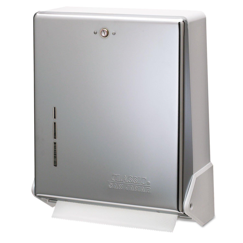 San Jamar T1905XC True Fold C-Fold/Multifold Paper Towel Dispenser Chrome 11 5/8 x 5 x 14 1/2