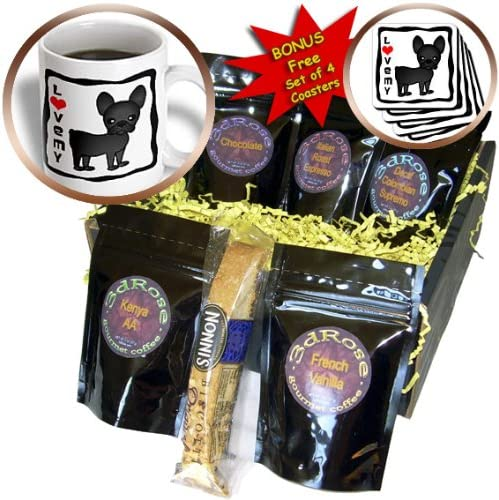 3drose Cgb 25321 1 I Love My French Bulldog Black Brindle Coffee Gift Basket Multicolor Home Kitchen