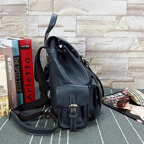 DJB/DOUBLE Schultertasche Handtasche Tasche Leder Wildleder Leder