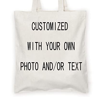 bfa75b50ff Personalized Custom your own canvas Tote bag - Add your logo, picture, text  -