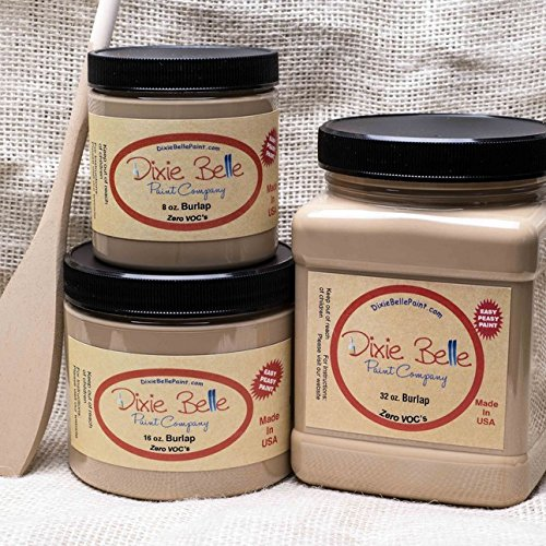 Dixie Belle Paint Company Chalk Finish Furniture Paint (Burlap) (8oz) (Dixie Cream)
