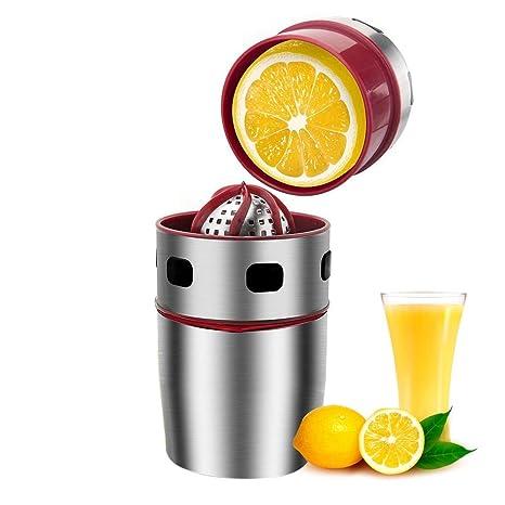 Womdee Exprimidor Manual de limón, exprimidor Manual de Naranja, Acero Inoxidable de Grado alimenticio, Zumo Puro, semilla separada Completamente, ...