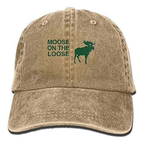 Xu Li Piang Unisex Adjustable Cap Trucker Hats Moose On The Loose Cowboy Baseball Hat