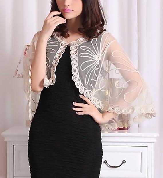 Donna Stola Cerimonia Elegante Vintage Trasparente Ragazza Abbigliamento  Fashionable Tulle Mantello Poncho Top Per Abiti Da ... 21523dd6a38