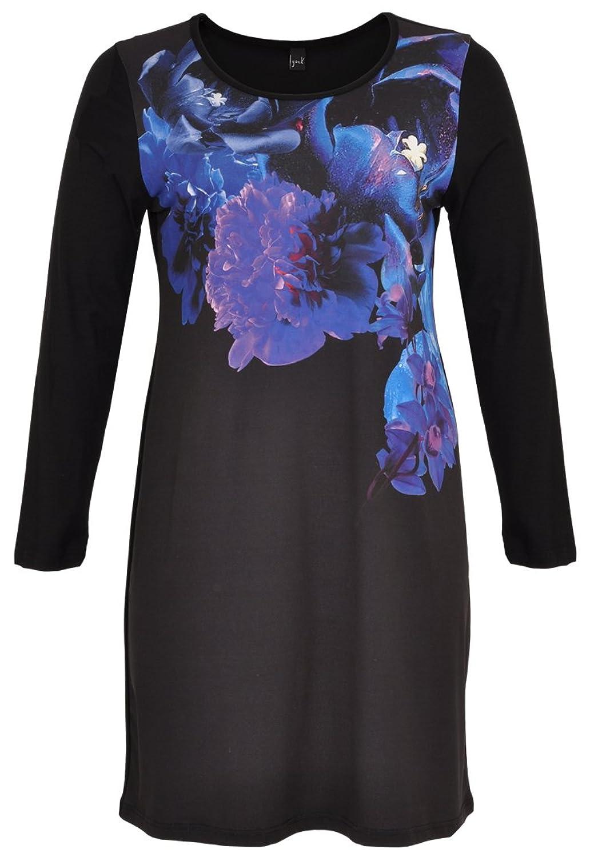 Yoek Damen Kleid mit Druck Blumen Plus Size