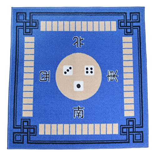 Blue Mahjong (MonkeyJack 1Pc Blue Household Multifunctional Mat Thickening Poker Mahjong Carpet Table)