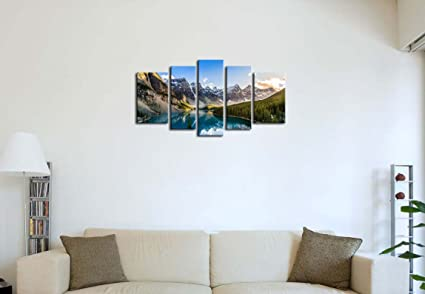 Amazon.com: 5 Pieces Modern Canvas Painting Wall Art The Picture For ...