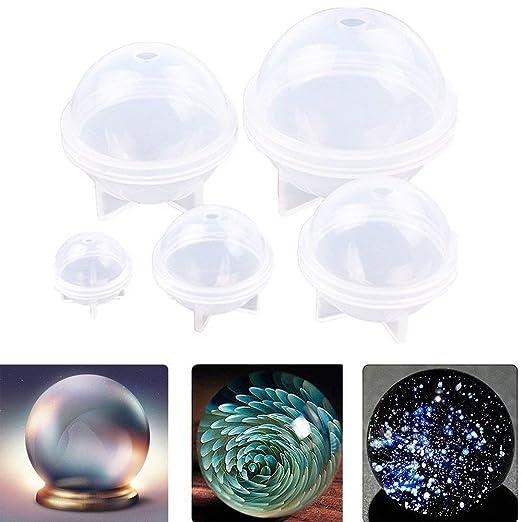Sphere Molde de silicona para manualidades de resina redonda ...