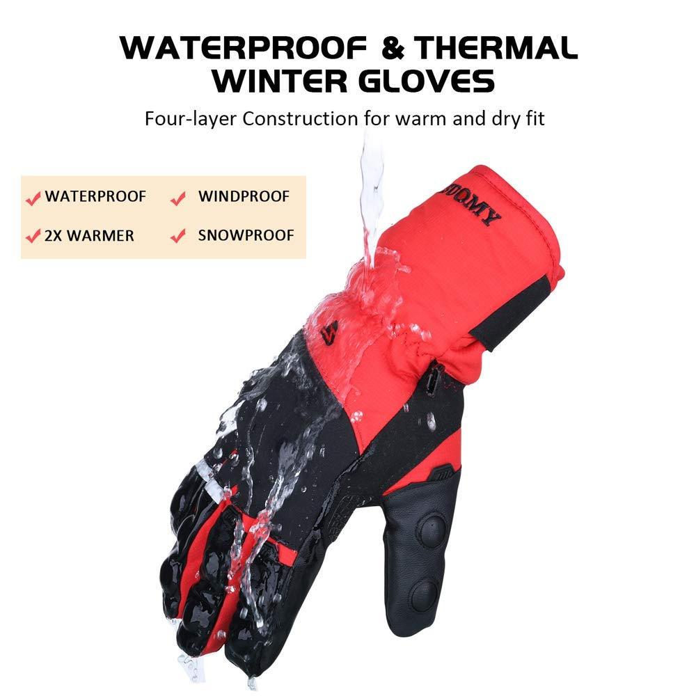 smaller than average size Goture Motorcycle Gloves for Men Waterproof Winter Motorbike Riding Gloves Thermal Gloves Windproof Touch Screen Carbon Shell Gloves Full Fingers Gloves