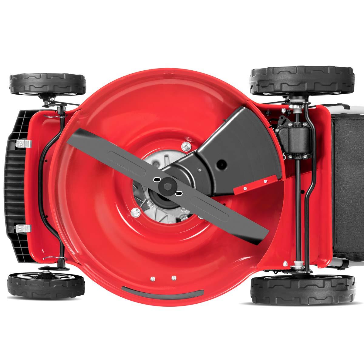 Greencut GLM770SXE - Cortacésped autopropulsado con motor de gasolina de 165cc y 6cv y arranque eléctrico, con un ancho de corte de 483mm (o 19