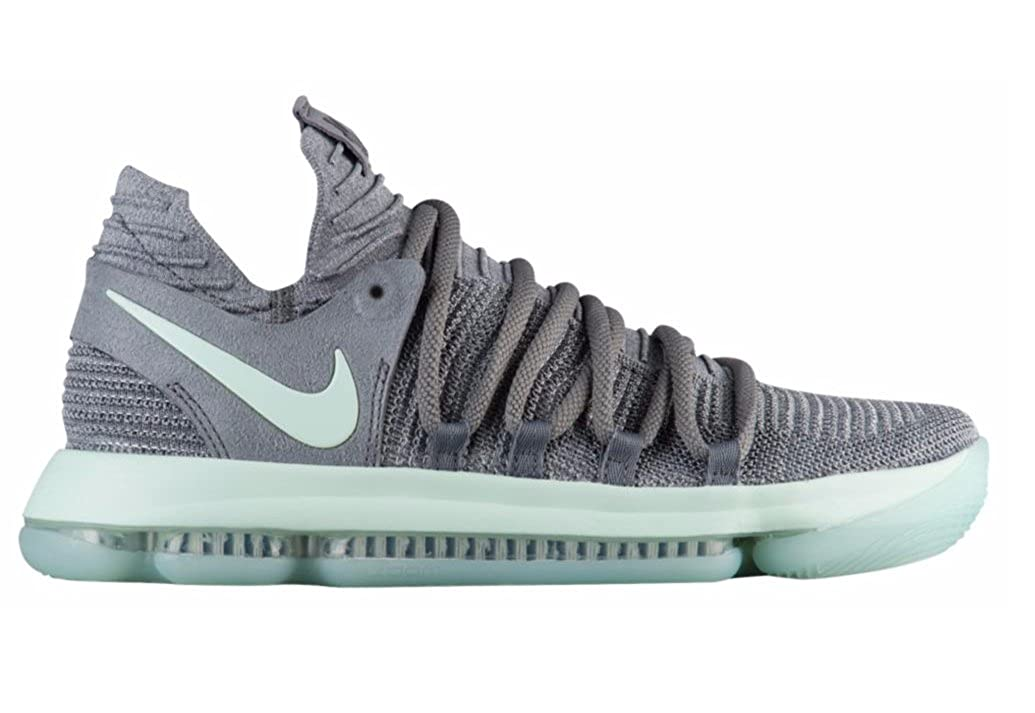 best loved 3b3fd 46fc2 NIKE Mens Zoom KD 10 X Mens Basketball Sneakers New, Cool Grey Igloo White  897815-002 (10)