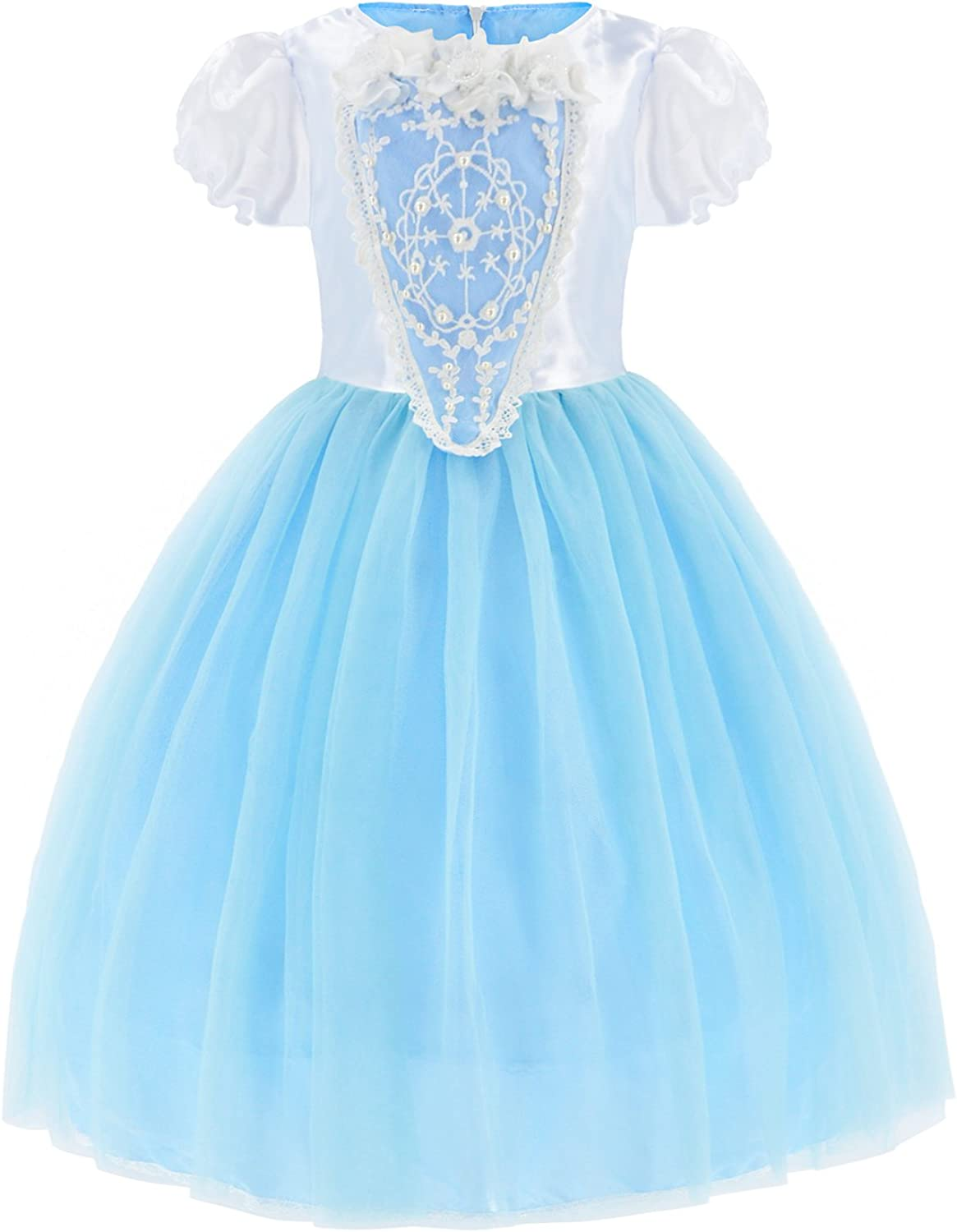 MetCuento Girls Princess Costume Dress up Skirt Set Christmas Birthday Party Cosplay Fancy Dresses 1-8 Years