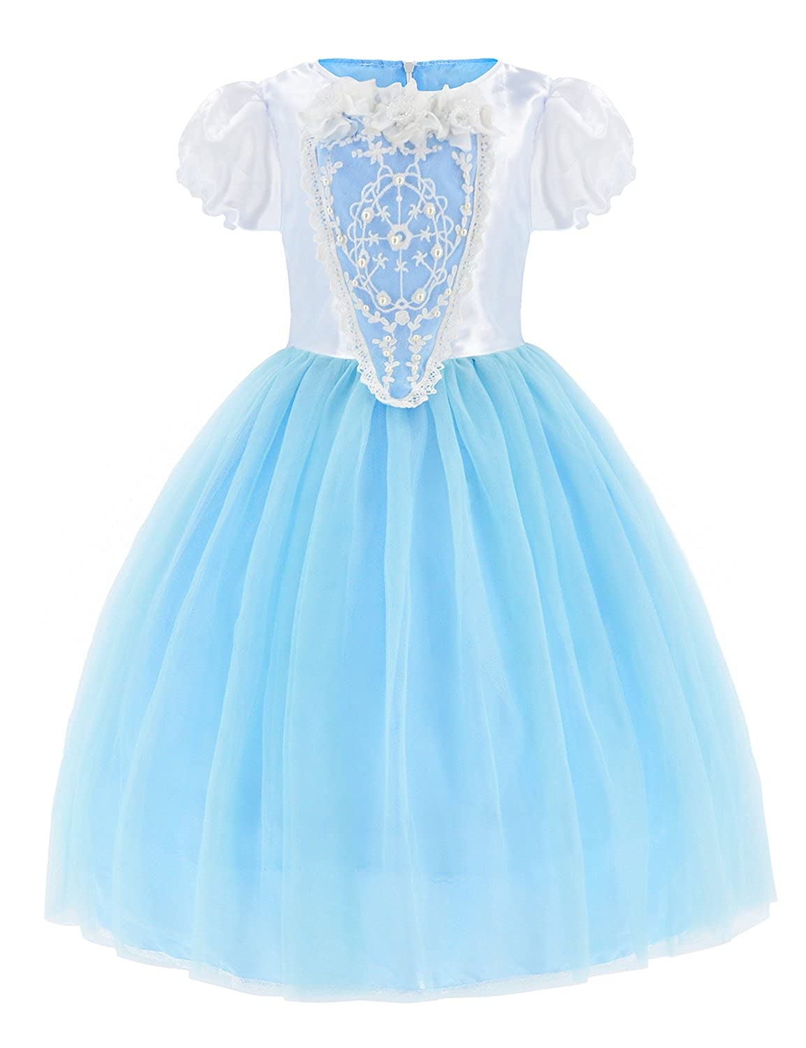 Princess Costumes Fancy Party Birthday,Christmas Dress Up for Little Girls with Accessories 2-11 Years