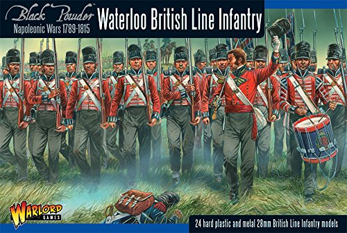 Napoleonic Waterloo British Line Infantry - Black Powder - 24 Hard Plastic - British Line