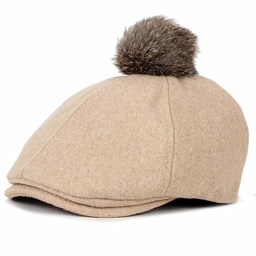 Dealzip Inc New Fancy Winter Wool Felt Kids Beret Hats for Child Plain  Gastby Cap with 6701c12288a9