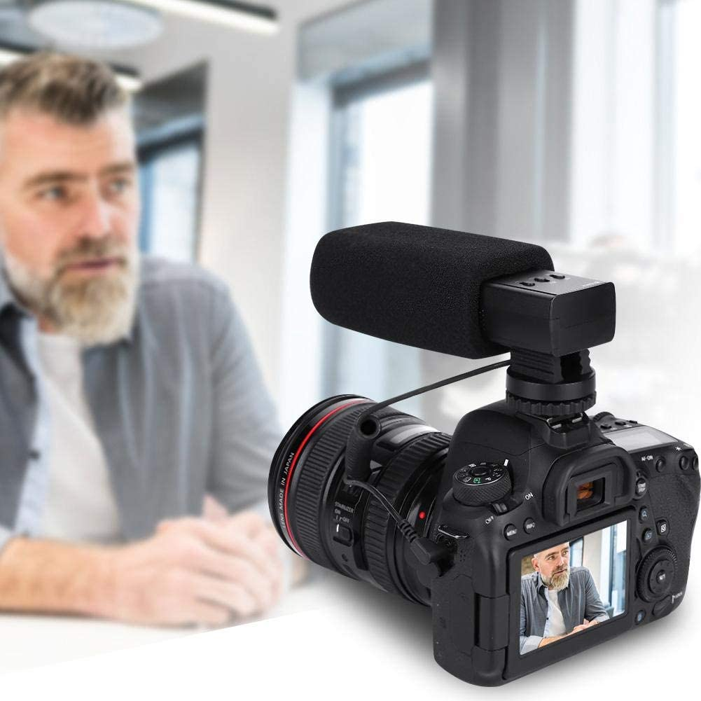 5mm Jack Output Acouto Alloy Photography Interview Microphone for Video DSLR DVR Phone Standard 3