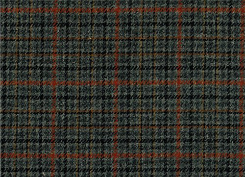 Country Tweed Fabric | 100% Pure Wool | by the metre |Grey Brown Checked Plaid | 10oz Weight | Ref 1813/2