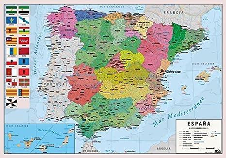 Grupo Erik Editores Vade Escolar Mapa España: Amazon.es: Oficina y papelería