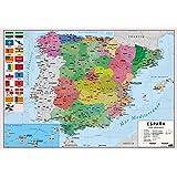 mapa mural españa, físico / político: Mapas Murales Mapa