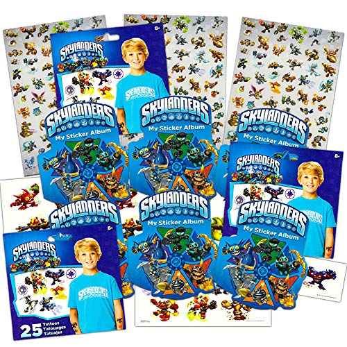 Skylanders Stickers and Tattoos Party Favor Pack (360 Stickers and 75 Temporary Tattoos) -