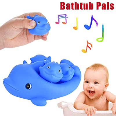 Kids Soft, Children's Family Soft Bath Dolphin Toys, Baby Bath Toy Mother and Child Set Whale Animal: Arts, Crafts & Sewing