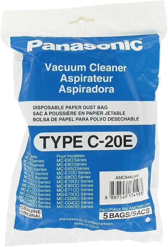 Original Panasonic C20E bolsas de papel para aspirador (Incluye 5 ...