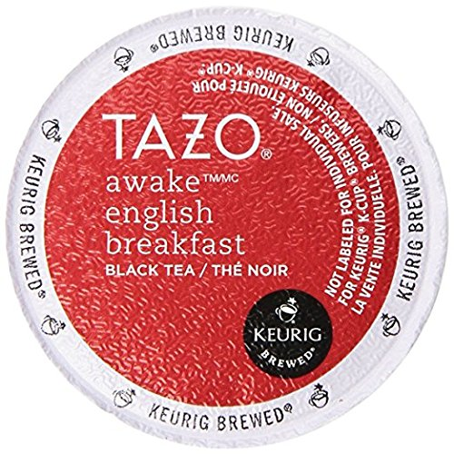 Tazo Awake English Breakfast Tea Keurig K-Cups, 32 Count