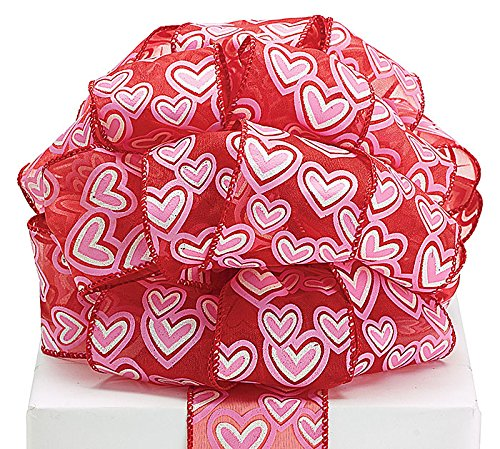 40-red-sheer-ribbon-with-pink-and-white-glitter-hearts-and-sewn-wired-edge-2-12-W-x-20-yards-1-roll