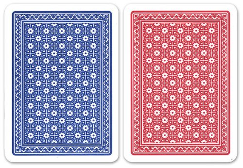 Da Vinci Neve, Italian 100% Plastic Playing Cards, 2-Deck Poker Size Set by Modiano, Jumbo Index