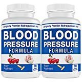 [2-Bottle Value Pack] Longevity Blood Pressure Formula - Clinically formulated - With Hawthorn & 15+ top quality all natural herbs - Scientifically formulated - Safe & effective - 90 Capsules