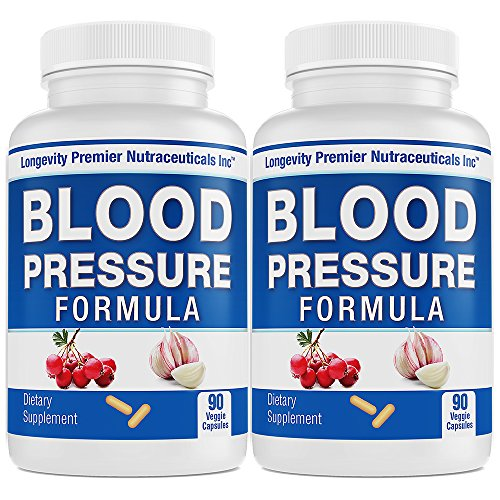 [2-Bottle Value Pack] Longevity Blood Pressure Formula -Scientifically formulated with Hawthorn & 12+ top Quality All Natural ()