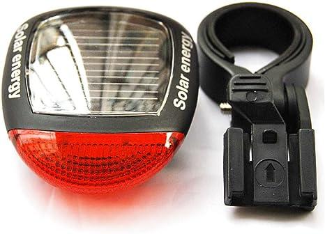 extrbici bicicleta Solar Piloto Trasero 2 bombillas LED alta ...