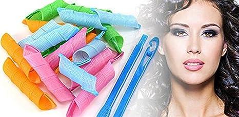 Set Kit Juego De Rulos Tubos Para Cabello Uso Manual Natural Ganchos  ganchos para Rizar Cabello Magic Leverag Rizos Sin Maltratar   Amazon.com.mx  Hogar y ... 92c1d5a2e877