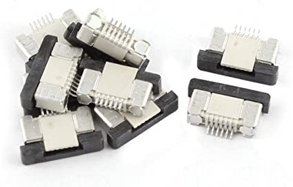 10Pcs Bottom Connect 12Pin 0.5mm Pitch FFC FPC Ribbon Sockets Connector