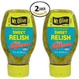 Mt. Olive No Sugar Added Sweet Relish, Low Carb (2 Pack)