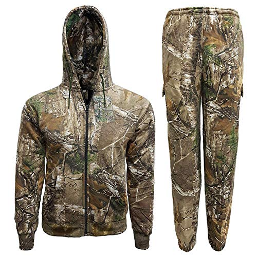 Mens Jungle Print Tracksuit Full Set Trouser Hoodie Camouflage Tree Combat