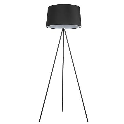 HOMCOM Lámpara de Pie Lámpara de Suelo Base Metálico Trípode E27 Estilo Vintage para Sala de Estar Cocina Dormitorio Pantalla de Tela 156cm