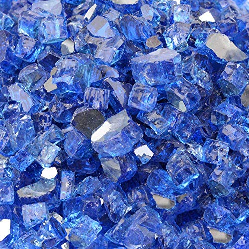 Stanbroil 10-pound 1/2 inch Fire Glass for Fireplace Fire Pit, Cobalt Blue ()