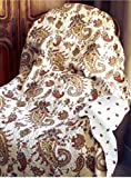 Cozy Line Home Fashions Peace of Mind Burgundy Gold Paisley Printed Quilted Throw 100% Cotton Reversible Christmas Gifts for her/women NEW Arrival !(Paisley)