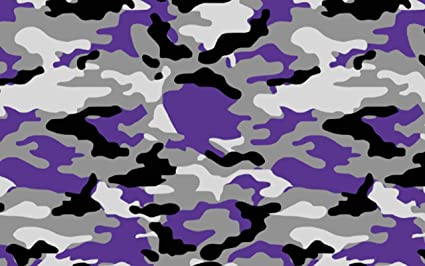 d3fed79f3c Sky Auto INC Snow White Purple Black Gray Camo Camouflage Vinyl Car Wrap  Film Sheet +
