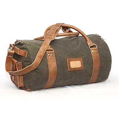 a2794041259 Image Unavailable. Image not available for. Color  Elkton Large Duffle Gear  Bag - Waxed Canvas and Leather