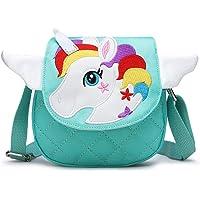 BETOY Unicornio Bolso Bandolera para niña Monedero pequeño Bolso de Hombro Cremallera Cierre Infantil Carteras Correa…