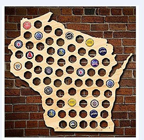 Gloria Yerkes Designed Beer Cap Collector Wisconsin Map Beer Bottle Cap Holer