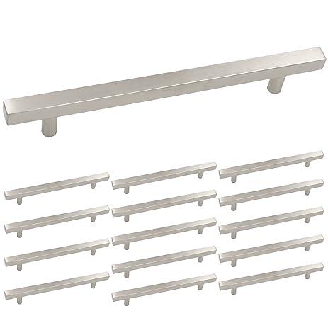 kitchen cabinet hardware brushed nickel drawer pulls handles homdiy hdj22sn 845in