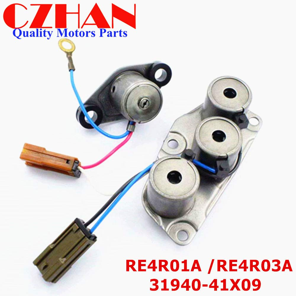 CZHAN (Remanufactured Parts,Not New) 31940-41X09; RE4R01A; RE4R03A; 3194041X09 Transmissions Solenoid Kit For Mazda Nissan Xterra Frontier Pathfinder 240SX 300ZX Infiniti QX4 J30